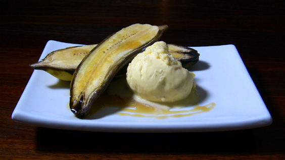 Baked Bananas with Maple Syrup