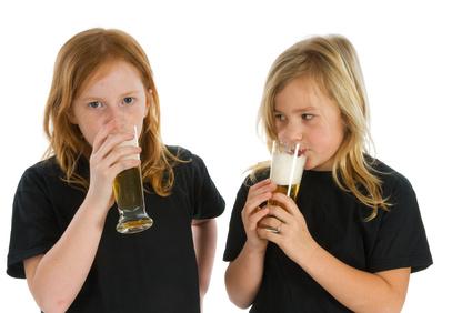 Children drinking alcohol