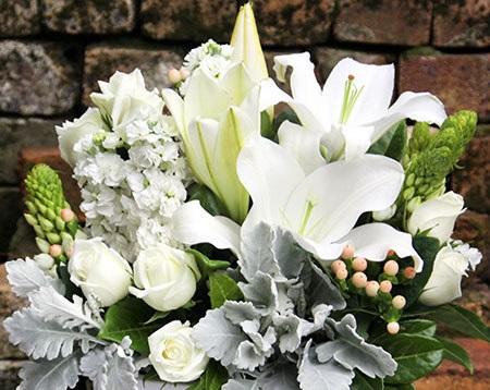 """""""Garden of Memories"""" sympathy flowers. Source:  flowersforeveryone.com.au"""