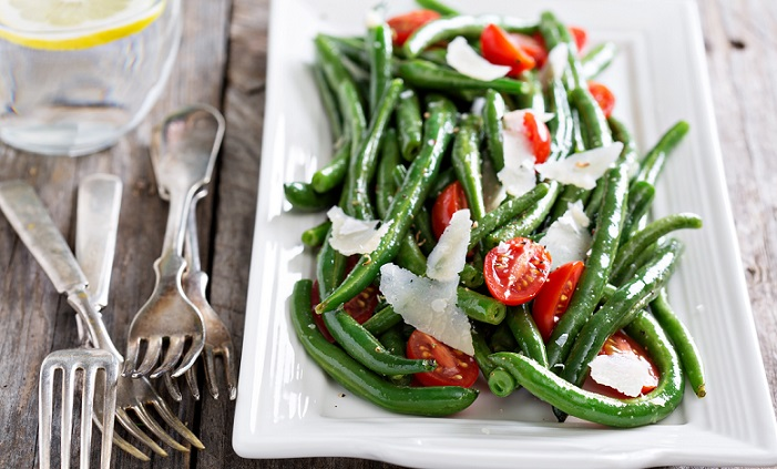 Atkins Warm Green Bean and Parmesan Salad with Cherry Tomatoes