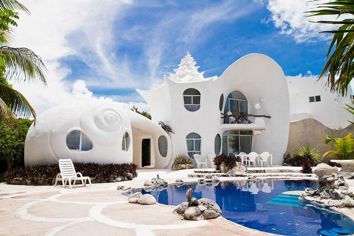 The Seashell House 'Casa Caracol' Isla Mujeres, Mexico