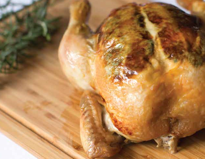 Roasted Whole Chicken with Sage Butter