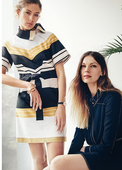 karen Millen Belted Stripe Dress & Top Stiched Shirt Dress