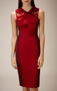 KNOT NECKLINE DRESS