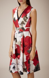 ROSE-PRINT COTTON DRESS