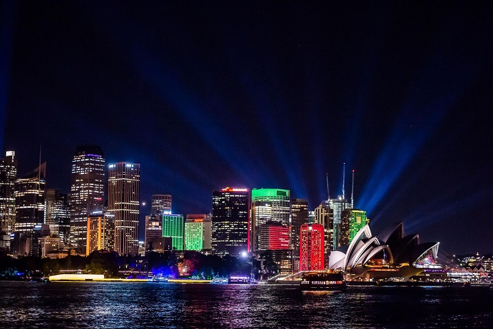 Vivid Sydney 2016: Sydney Harbour Lights