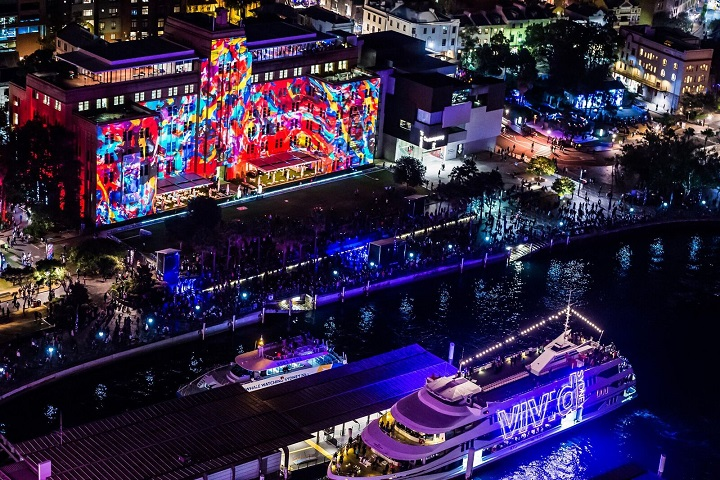 Vivid Sydney 2016: The Master of Painting installation