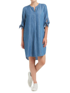 Sussan Chambray Tie Sleeve Dress
