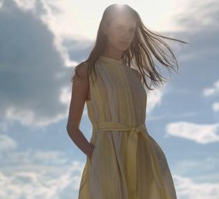 Uniqlo U Seersucker Sleeveless Long Dress