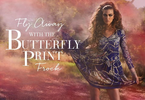 Fashion: The Butterfly Printed Frock by Leona Edmiston