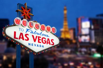 LAS VEGAS - MAY 12 : Welcome to fabulous Las Vegas neon sign