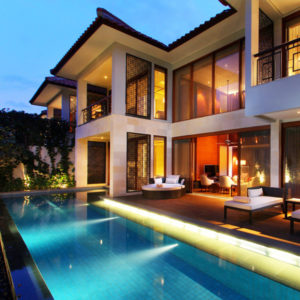 Palatial Two-Storey Pool Villa for Up to Five on Bali's Beachfront