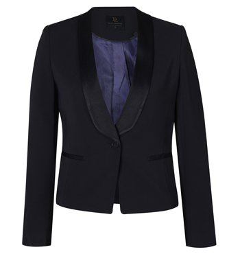 David Lawrence Linden Satin Trim Tuxedo Jacket