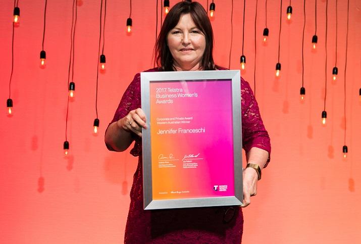 Jennifer Franceschi, 2017 Telstra Western Australian Business Woman of the Year