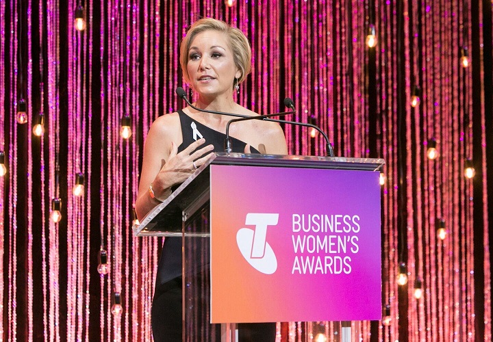 Saskia Groen-in't-Woud from Singapore, winner of the  2017 Telstra Business Woman in Asia Award