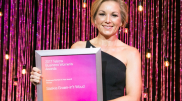 Saskia Groen-in't-Woud from Singapore wins 2017 Telstra Business Woman in Asia Award