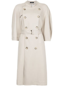 BASSIKE  crop sleeve trench coat
