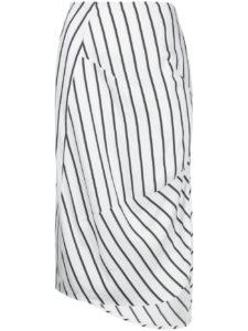 BASSIKE  stripe dart detail skirt