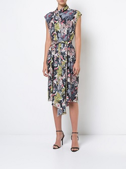 TOME floral asymmetric dress