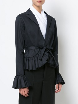 TOME tie shirt with frills