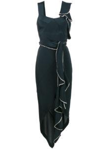 KITX  asymmetric draped cutout dress