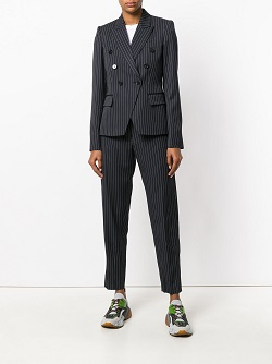 STELLA MCCARTNEY double-breasted pinstriped blazer