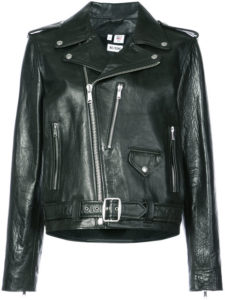 RE/DONE oversized leather jacket