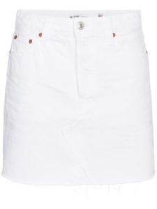 RE/DONE high waisted denim mini skirt