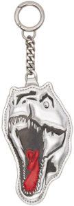 Saint Laurent Silver Dino Keychain