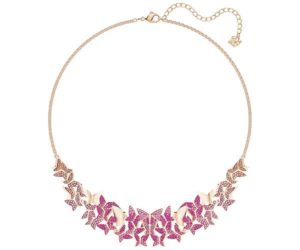 Swarovski Lilia Necklace, Large, Multi-colored, Rose gold plating Light Multi Rose gold-plated