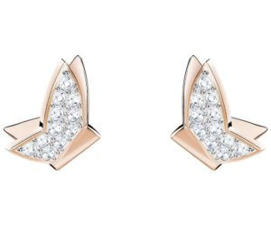 Swarovski Lilia Fig Pierced Earrings, White, Rose gold plating White Rose gold-plated