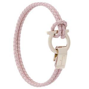 SALVATORE FERRAGAMO braided Gancio bracelet