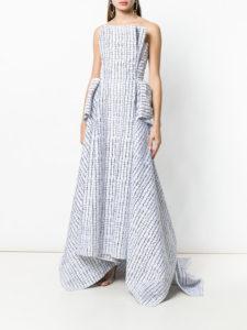 MATICEVSKI mosaic strapless gown