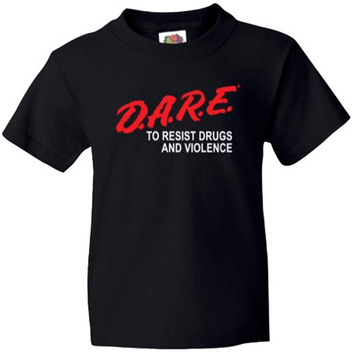 D.A.R.E. To Resist Drugs and Violence t-shirt