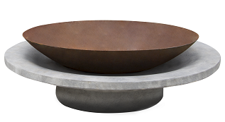 Glow Rustic Cement Lille Fire Pit