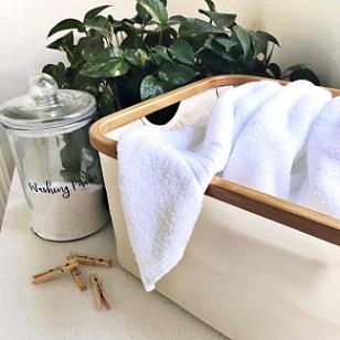 Hills Foldable Bamboo Laundry Basket