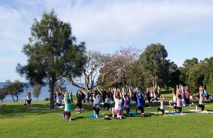 Popular yoga session run at Reflections Killalea Reserve by Tanya Smith from TOA Yoga Pilates
