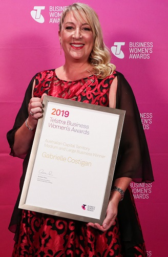 Medium & Large Business Award Winner, Gabrielle Costigan