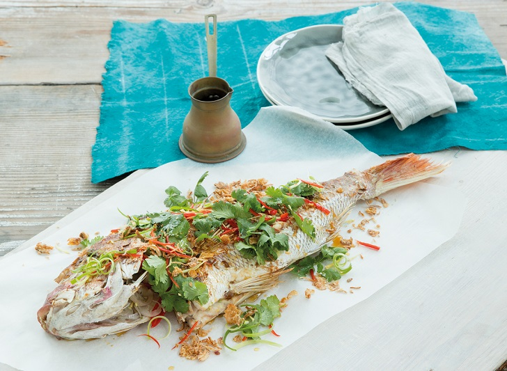Whole Snapper with Ginger