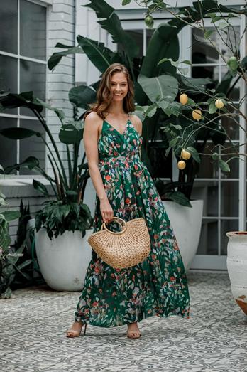 Lizzie Maxi Dress Green